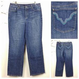 Talbots  Stretch Straight Leg Embellished Jeans